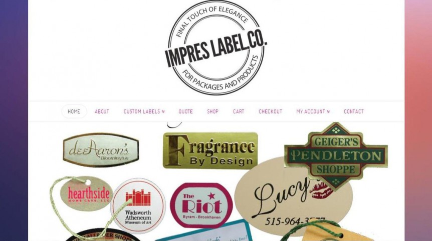 Web Design Kansas City Impres Label